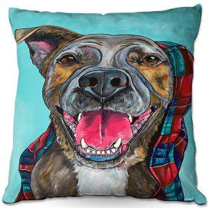 Decorative Outdoor Patio Pillow Cushion | Patti Schermerhorn - My Blanket Dog | Dog Animal