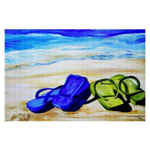 Decorative Area Rug 2 x 3 ft from DiaNoche Designs by Patti Schermerhorn - Naked Feet on the Beach