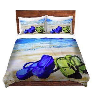 Artistic Duvet Covers and Shams Bedding   Patti Schermerhorn - Naked Feet on the Beach
