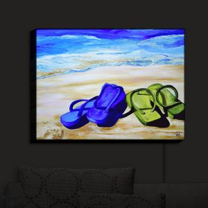 Nightlight Sconce Canvas Light | Patti Schermerhorn's Naked Feet on the Beach