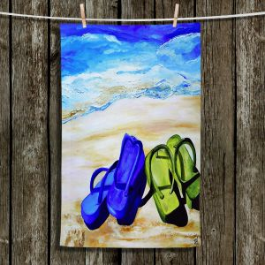 Unique Hanging Tea Towels | Patti Schermerhorn - Naked Feet on the Beach | Beach Bare Feet