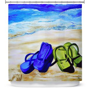 Premium Shower Curtains | Patti Schermerhorn Naked Feet on the Beach