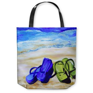Unique Shoulder Bag Tote Bags | Patti Schermerhorn Naked Feet on the Beach