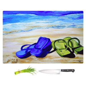 Artistic Kitchen Bar Cutting Boards   Patti Schermerhorn - Naked Feet on the Beach