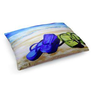 Decorative Dog Pet Beds | Patti Schermerhorn's Naked Feet on the Beach