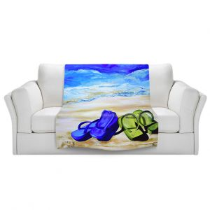 Artistic Sherpa Pile Blankets   Patti Schermerhorn Naked Feet on the Beach