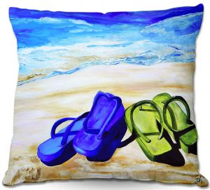 Throw Pillows Decorative Artistic | Patti Schermerhorn Naked Feet on the Beach