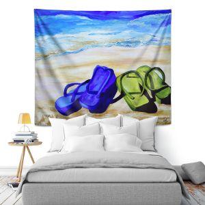 Artistic Wall Tapestry | Patti Schermerhorn Naked Feet on the Beach