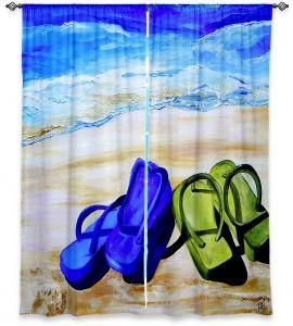 Decorative Window Treatments | Patti Schermerhorn Naked Feet on the Beach
