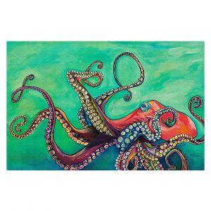 Decorative Floor Covering Mats | Patti Schermerhorn - Octopus | ocean sea creature