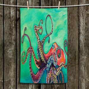 Unique Hanging Tea Towels | Patti Schermerhorn - Octopus | ocean sea creature