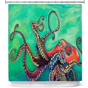Premium Shower Curtains | Patti Schermerhorn - Octopus | ocean sea creature