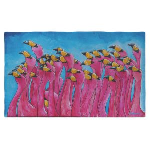 Artistic Pashmina Scarf | Patti Schermerhorn - Peace Love and Flamingos | Flamingos Florida