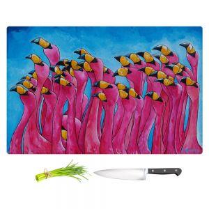 Artistic Kitchen Bar Cutting Boards   Patti Schermerhorn - Peace Love and Flamingos
