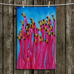 Unique Hanging Tea Towels | Patti Schermerhorn - Peace Love and Flamingos | Flamingos Florida