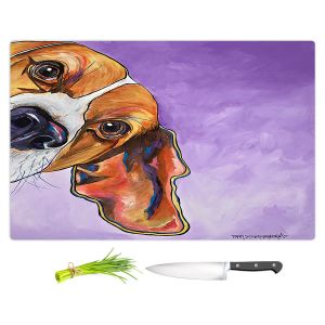 Artistic Kitchen Bar Cutting Boards | Patti Schermerhorn - Peek a Boo Beagle | Dog Animal