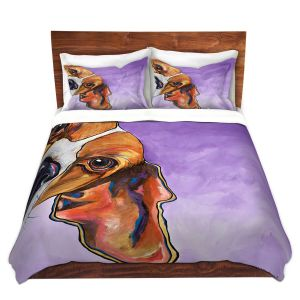 Artistic Duvet Covers and Shams Bedding | Patti Schermerhorn - Peek a Boo Beagle | Dog Animal