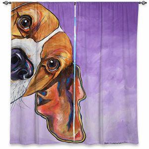 Decorative Window Treatments   Patti Schermerhorn - Peek a Boo Beagle   Dog Animal