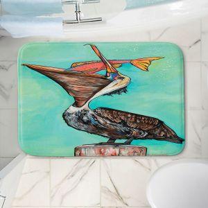 Decorative Bathroom Mats   Patti Schermerhorn - Pelican On Edge   Sea Bird Fish