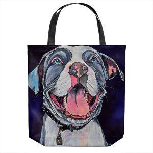 Unique Shoulder Bag Tote Bags | Patti Schermerhorn - Pit Bull Love | Dog Animal