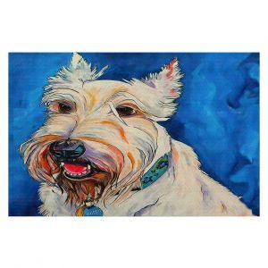 Decorative Floor Covering Mats   Patti Schermerhorn - Quincy Scottish Dog   puppy terrier portrait