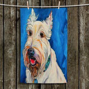 Unique Bathroom Towels | Patti Schermerhorn - Quincy Scottish Dog | puppy terrier portrait