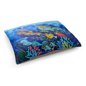 Decorative Dog Pet Beds | Patti Schermerhorn - Reef Fish | sea ocean underwater nature