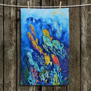 Unique Bathroom Towels | Patti Schermerhorn - Reef Fish | sea ocean underwater nature