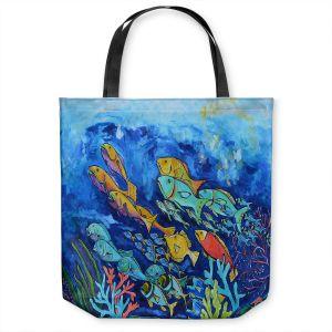 Unique Shoulder Bag Tote Bags   Patti Schermerhorn - Reef Fish   sea ocean underwater nature