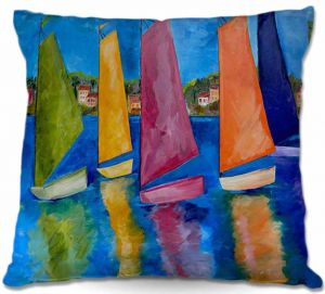 Throw Pillows Decorative Artistic | Patti Schermerhorn Reflections of Tortola