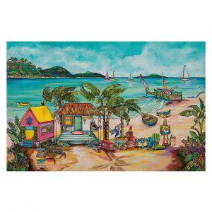 Decorative Floor Covering Mats | Patti Schermerhorn - Salty Kisses Beach 1 | coast summer ocean
