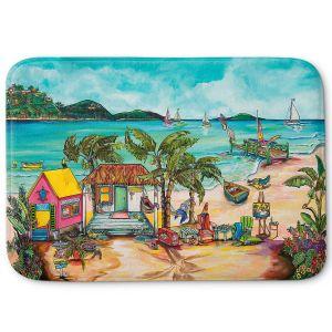 Decorative Bathroom Mats   Patti Schermerhorn - Salty Kisses Beach 1   coast summer ocean