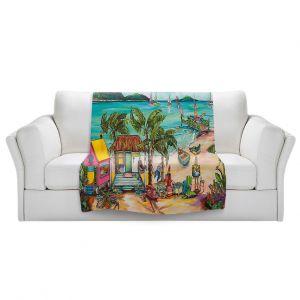 Artistic Sherpa Pile Blankets   Patti Schermerhorn - Salty Kisses Beach 1   coast summer ocean