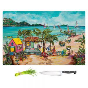 Artistic Kitchen Bar Cutting Boards | Patti Schermerhorn - Salty Kisses Beach 1 | coast summer ocean