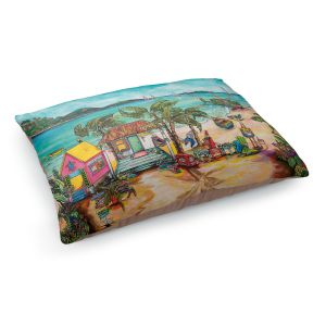 Decorative Dog Pet Beds | Patti Schermerhorn - Salty Kisses Beach 1 | coast summer ocean