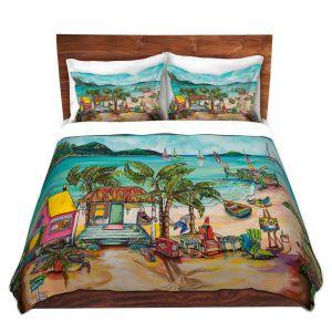 Artistic Duvet Covers and Shams Bedding | Patti Schermerhorn - Salty Kisses Beach 1 | coast summer ocean
