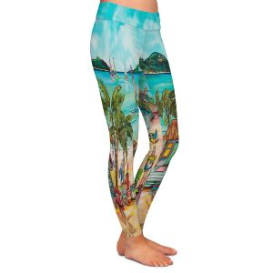 Casual Comfortable Leggings | Patti Schermerhorn - Salty Kisses Beach 1 | coast summer ocean