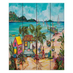 Decorative Wood Plank Wall Art | Patti Schermerhorn - Salty Kisses Beach 1 | coast summer ocean