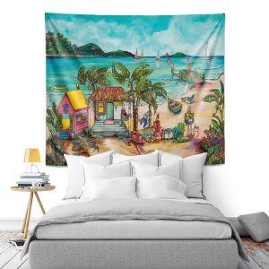 Artistic Wall Tapestry | Patti Schermerhorn - Salty Kisses Beach 1 | coast summer ocean