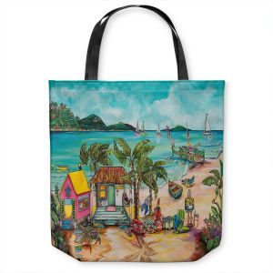 Unique Shoulder Bag Tote Bags | Patti Schermerhorn - Salty Kisses Beach 1 | coast summer ocean