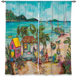 Decorative Window Treatments | Patti Schermerhorn - Salty Kisses Beach 1 | coast summer ocean