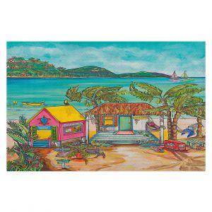 Decorative Floor Covering Mats   Patti Schermerhorn - Salty Kisses Beach 2   coast summer ocean