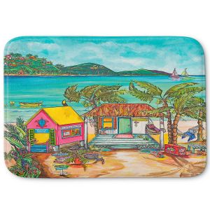 Decorative Bathroom Mats | Patti Schermerhorn - Salty Kisses Beach 2 | coast summer ocean