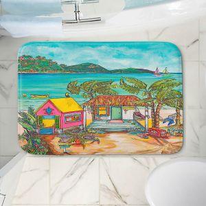 Decorative Bathroom Mats | Patti Schermerhorn - Salty Kisses Beach 2 | coast summer ocean