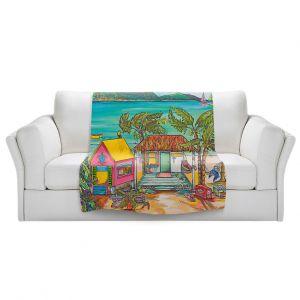 Artistic Sherpa Pile Blankets   Patti Schermerhorn - Salty Kisses Beach 2   coast summer ocean