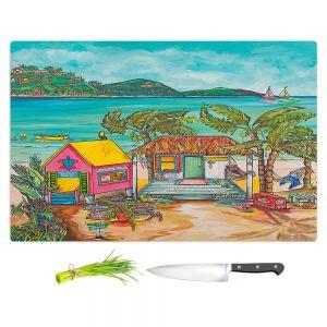 Artistic Kitchen Bar Cutting Boards | Patti Schermerhorn - Salty Kisses Beach 2 | coast summer ocean