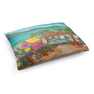 Decorative Dog Pet Beds | Patti Schermerhorn - Salty Kisses Beach 2 | coast summer ocean