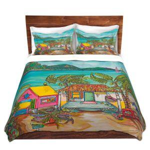 Artistic Duvet Covers and Shams Bedding | Patti Schermerhorn - Salty Kisses Beach 2 | coast summer ocean