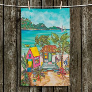 Unique Hanging Tea Towels | Patti Schermerhorn - Salty Kisses Beach 2 | coast summer ocean