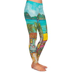 Casual Comfortable Leggings | Patti Schermerhorn - Salty Kisses Beach 2 | coast summer ocean
